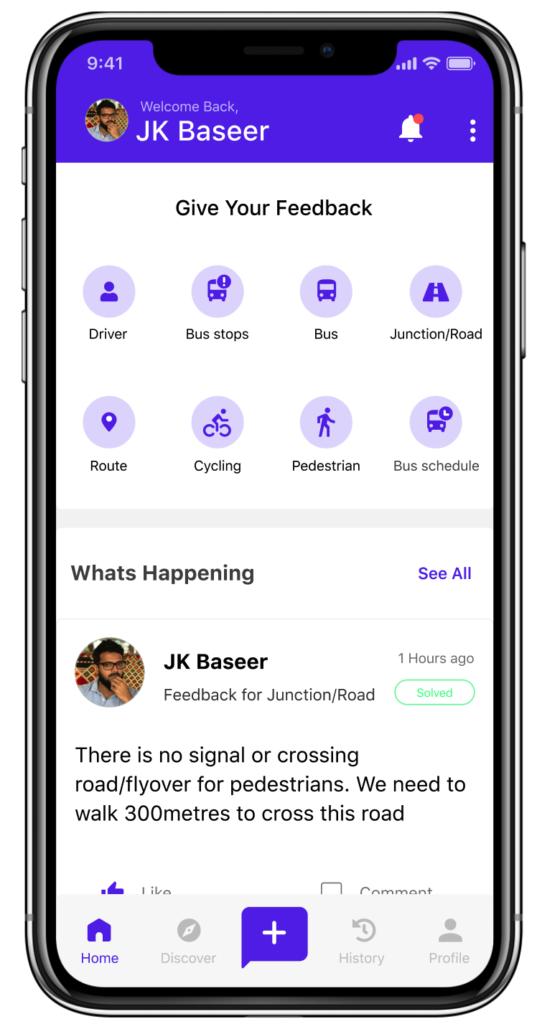 Feedback for Good App for public Transport