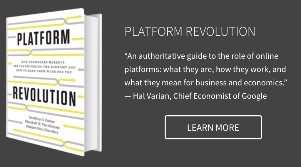 Platform business model book